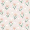 papier peint fleur summer pink (1)