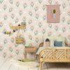 papier peint fleur summer pink (2)