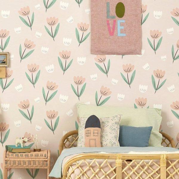 papier peint fleur summer pink (3)