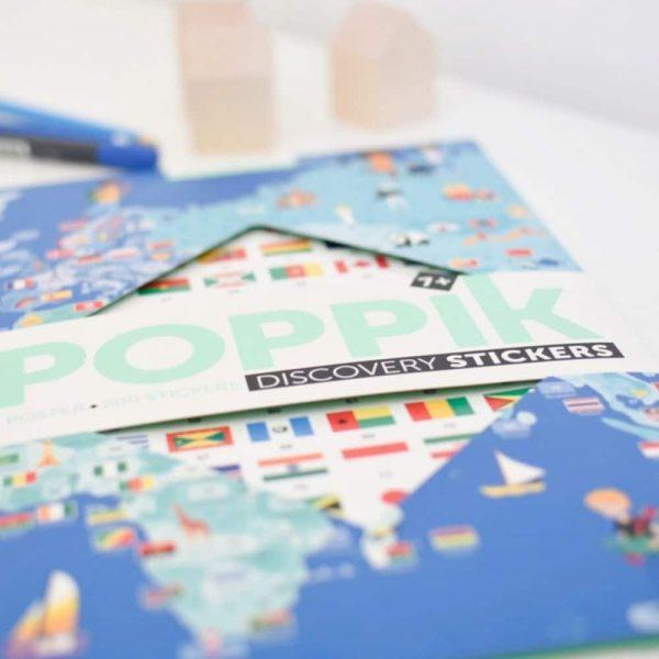 poster éducatif + 200 stickers drapeaux du monde poppik (2)