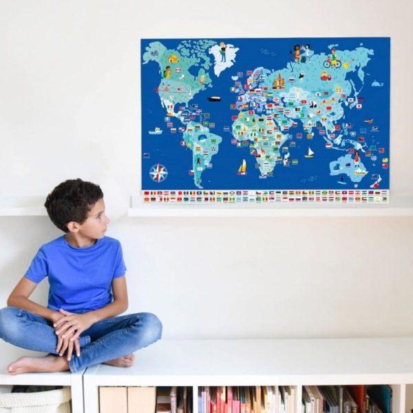poster éducatif + 200 stickers drapeaux du monde poppik (3)