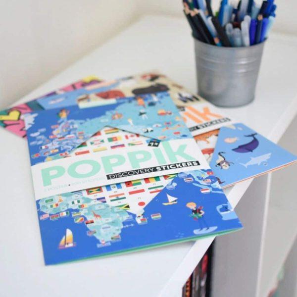 poster éducatif + 200 stickers drapeaux du monde poppik (5)