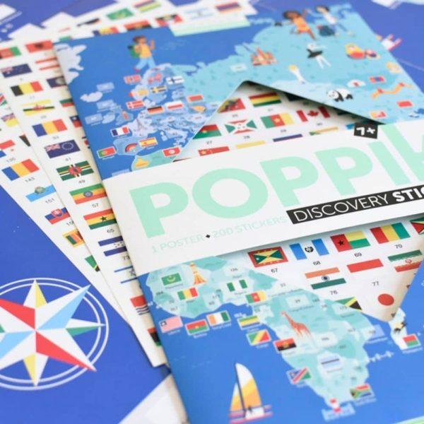 poster éducatif + 200 stickers drapeaux du monde poppik (8)