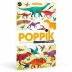 poster éducatif + 32 stickers dinosaures poppik (1)