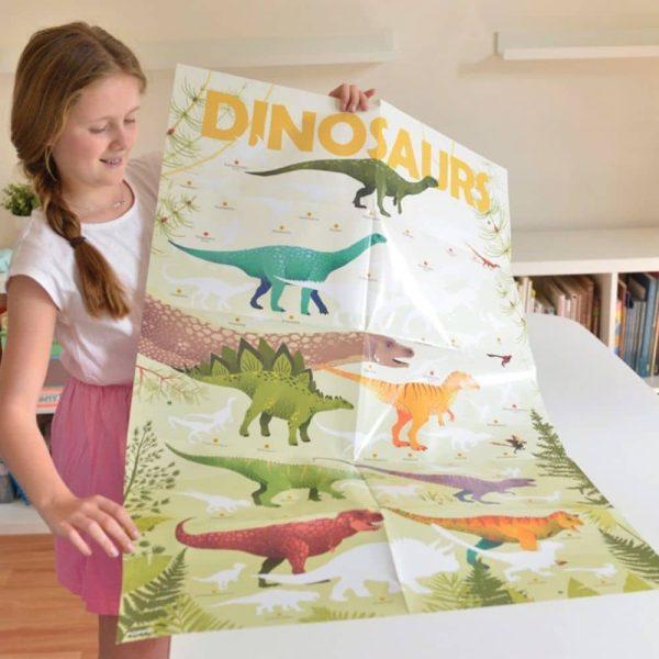 poster éducatif + 32 stickers dinosaures poppik (15)