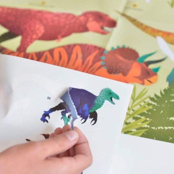 poster éducatif + 32 stickers dinosaures poppik (5)