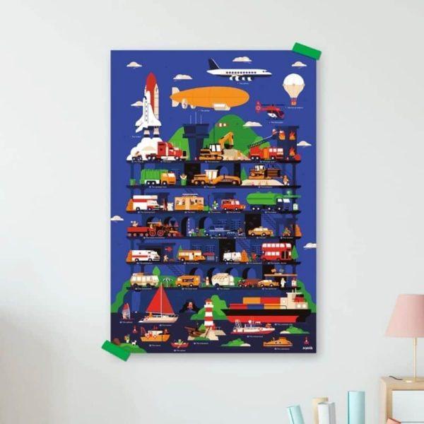 poster éducatif + 44 stickers vroum ! les véhicules poppik (12)