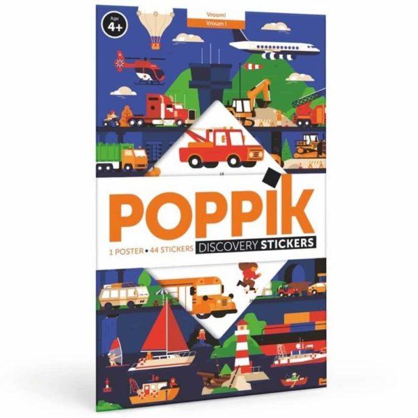 poster éducatif + 44 stickers vroum ! les véhicules poppik (14)