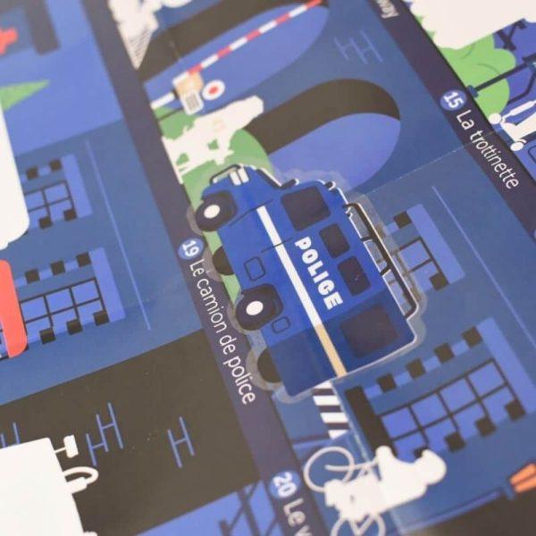 poster éducatif + 44 stickers vroum ! les véhicules poppik (6)