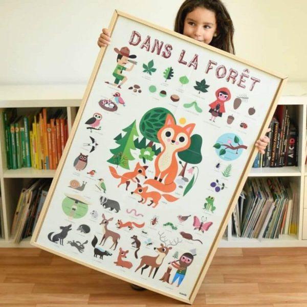 poster éducatif + 60 stickers dans la forêt poppik (10)