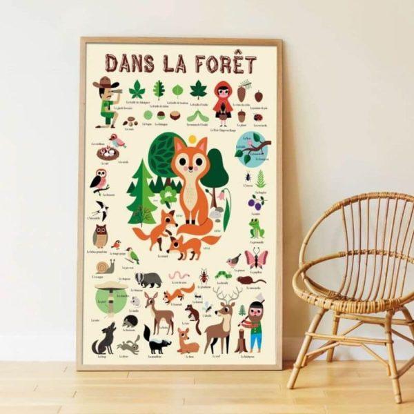 poster éducatif + 60 stickers dans la forêt poppik (3)