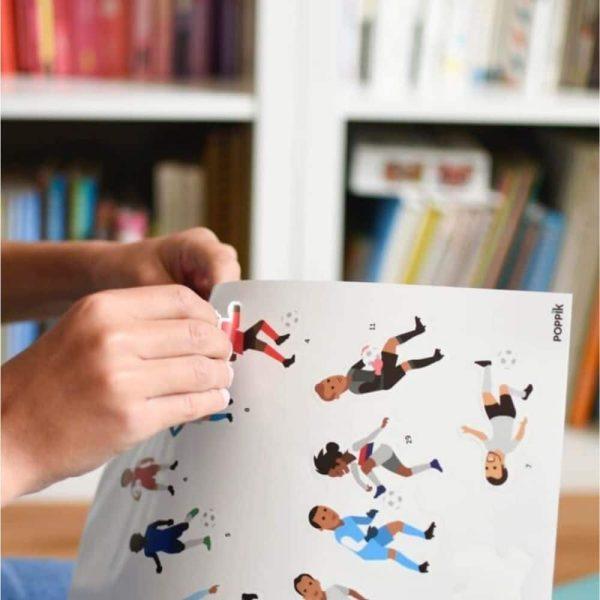 poster éducatif + 60 stickers le football poppik (5)