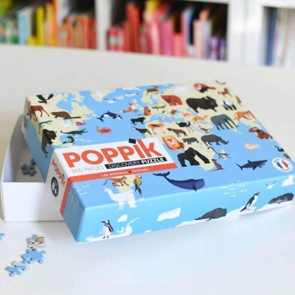 puzzle éducatif 500 pièces animaux poppik (4)