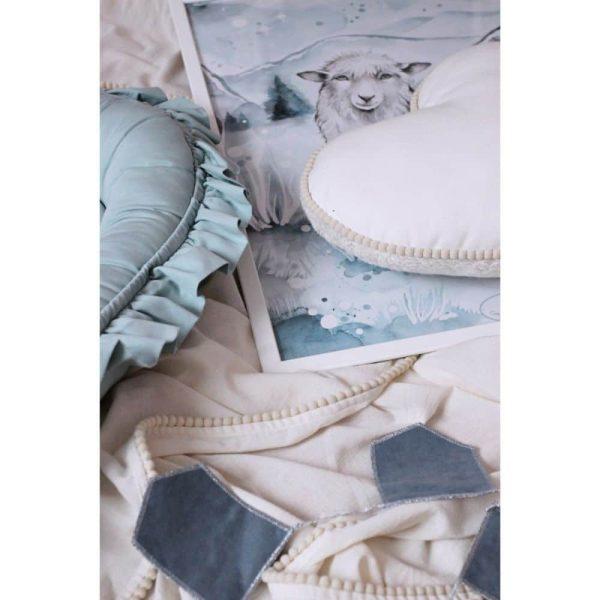 réducteur de lit simply glamour à volants menthe (2)