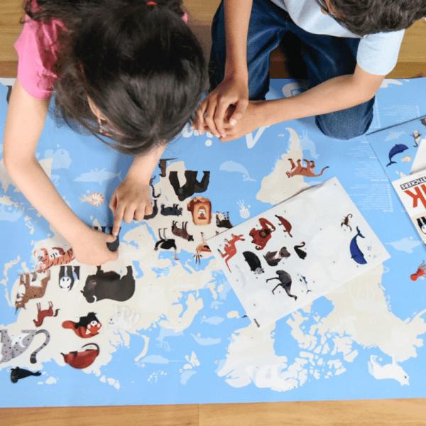 Poster éducatif Animaux du Monde - Poppik