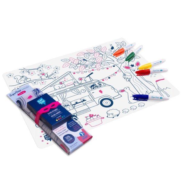 set de table silicone à colorier dream van (1)
