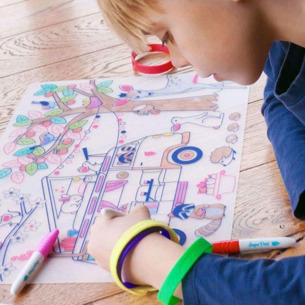 set de table silicone à colorier dream van (4)