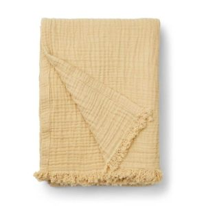 couverture mousseline magda wheat yellow liewood