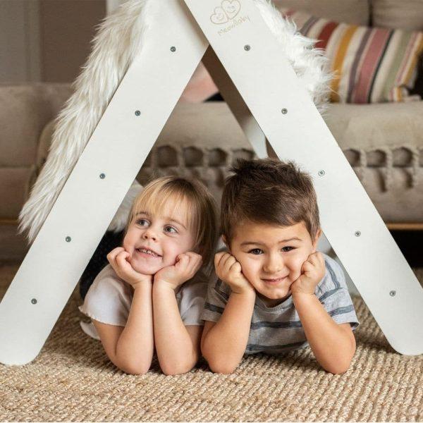Échelle en bois montessori pour enfants blanc meowbaby (1)