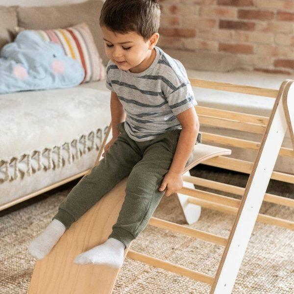 Échelle en bois montessori pour enfants blanc meowbaby (2)