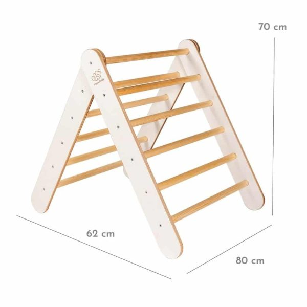 Échelle en bois montessori pour enfants blanc meowbaby (6)