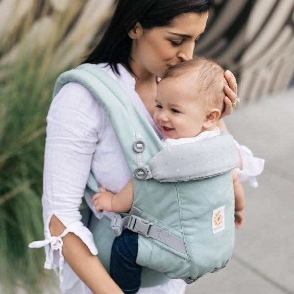 porte bébé adapt menthe pois argenté ergobaby (1)