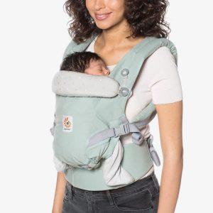porte bébé adapt menthe pois argenté ergobaby (2)