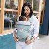 porte bébé adapt menthe pois argenté ergobaby (4)