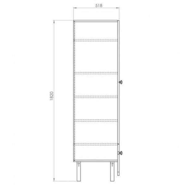armoire 2 portes 1 tiroir trapèze (10)