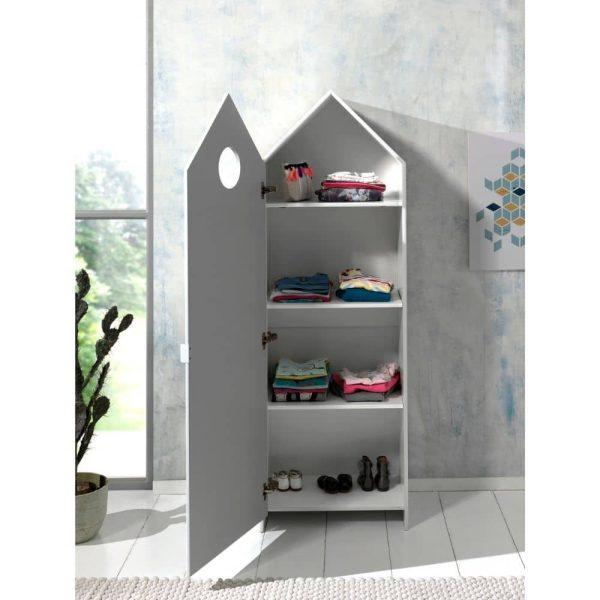 armoire en bois 1 porte casami blanc – vipack (12)