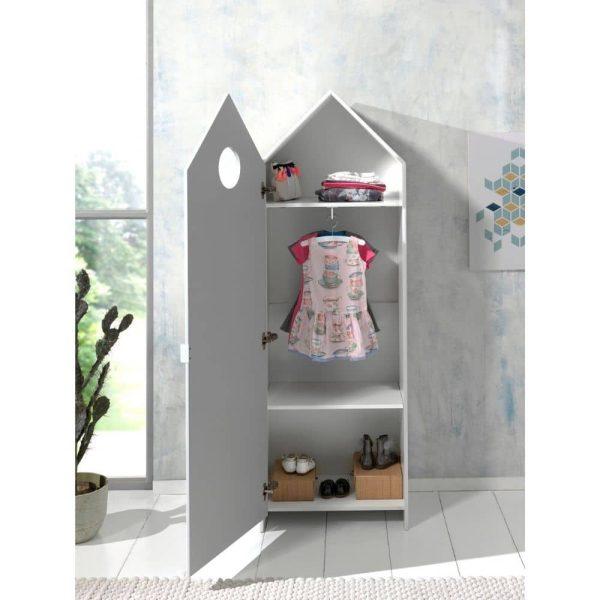 armoire en bois 1 porte casami blanc – vipack (9)