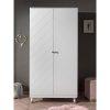 armoire en bois 2 portes billy blanc – vipack (1)