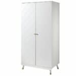 armoire en bois 2 portes billy blanc – vipack (3)