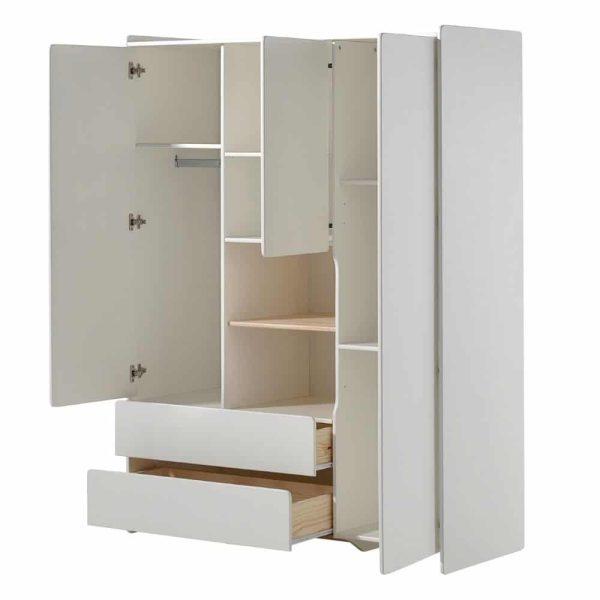 armoire en bois 3 portes kiddy blanc vipack (1)
