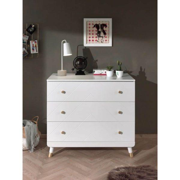 commode en bois 3 tiroirs billy blanc – micuna (2)