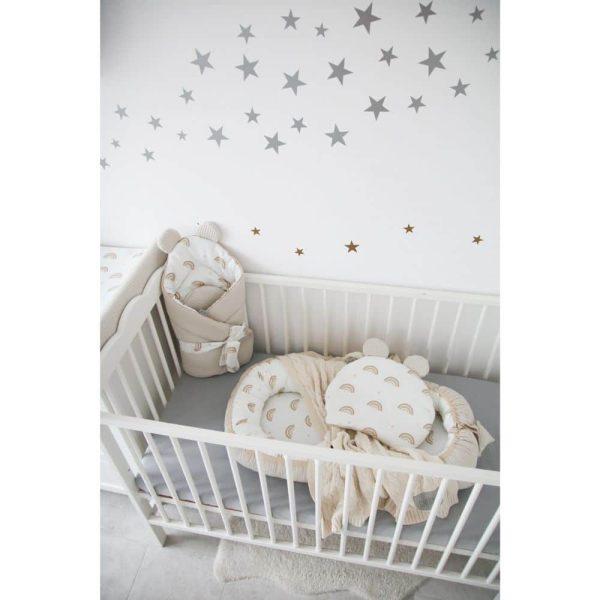 réducteur de lit rainbow & beige tiny star (11)