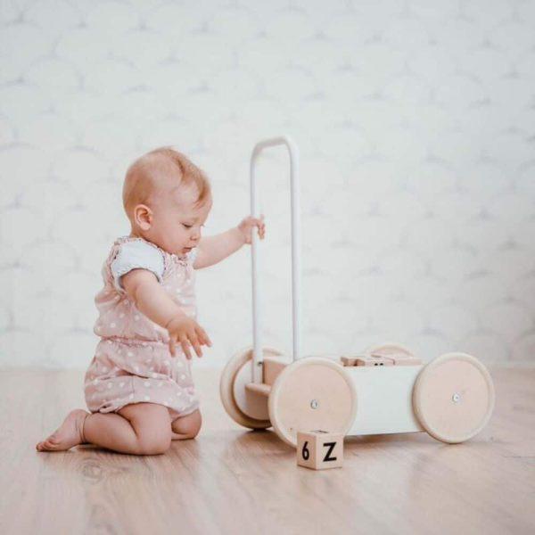 Chariot de marche Baby walker blanc- Ooh noo