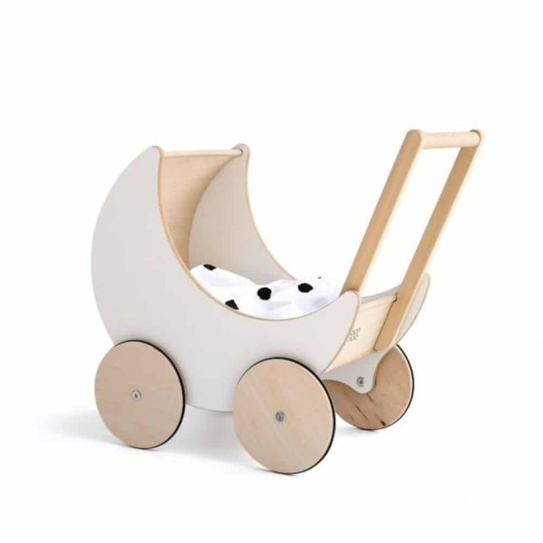 Landau de poupée en bois blanc - Ooh noo