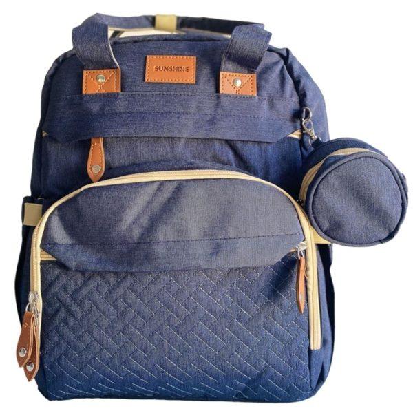sac à langer lit bleu 2 en 1 sunshine