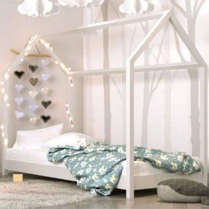 lit cabane en bois bella blanc – kocot
