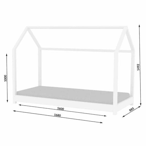 lit cabane en bois bella blanc – kocot (4)