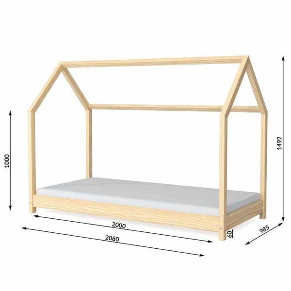 lit cabane en bois bella nature – kocot (3)