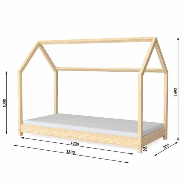 lit cabane en bois bella nature – kocot (4)
