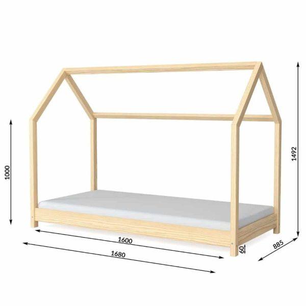 lit cabane en bois bella nature – kocot (5)
