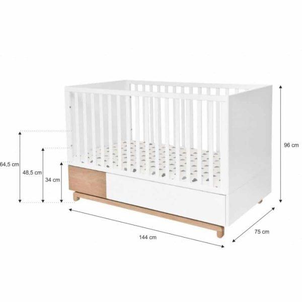 lit bébé évolutif nomi 70 x 140 cm – bellamy (1)