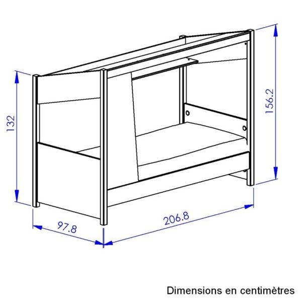 lit cabane en bois luce 90 x 200 cm diagone (2)