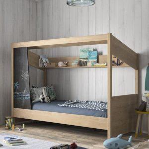lit cabane en bois luce 90 x 200 cm diagone