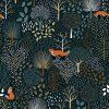 papier peint arbres & animaux de la forêt lilipinso (1)