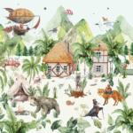 papier peint magical village 2