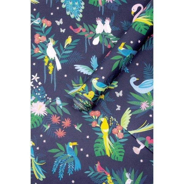 papier peint oiseaux tropicaux lilipinso (1)